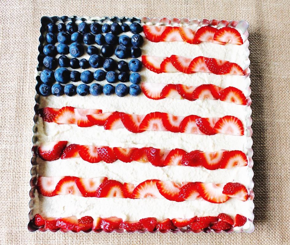 american flag dessert freedom tart