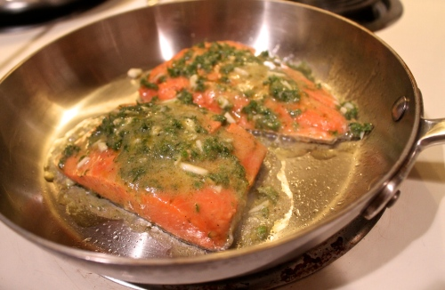 saute salmon